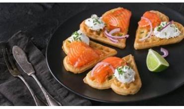 gofre salado salmon y queso